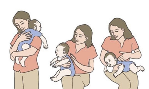 How to Hold a Newborn Baby When Burping?